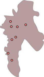 Mapa cmentarzy - Chorzów